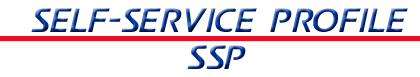 United States Postal Service Human Resources Self-Service Profile Logo consisting of the text Self-Service Profile above SSP