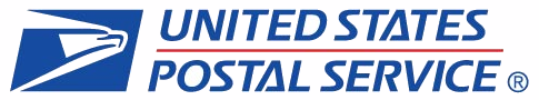 United States Postal Service Logo with the Eagles head on the left side and United States Postal Service on the right side